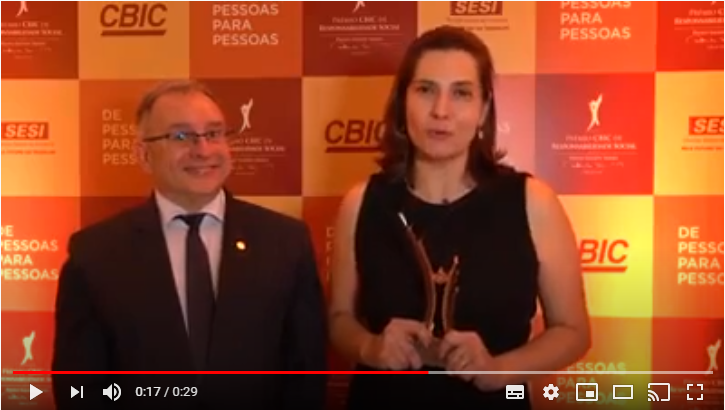 Seconci-PR ganha Prêmio CBIC de Responsabilidade Social